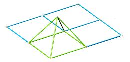 Montaggio del primo tetraedro