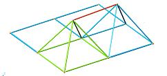 Collegamento tra i due tetraedri