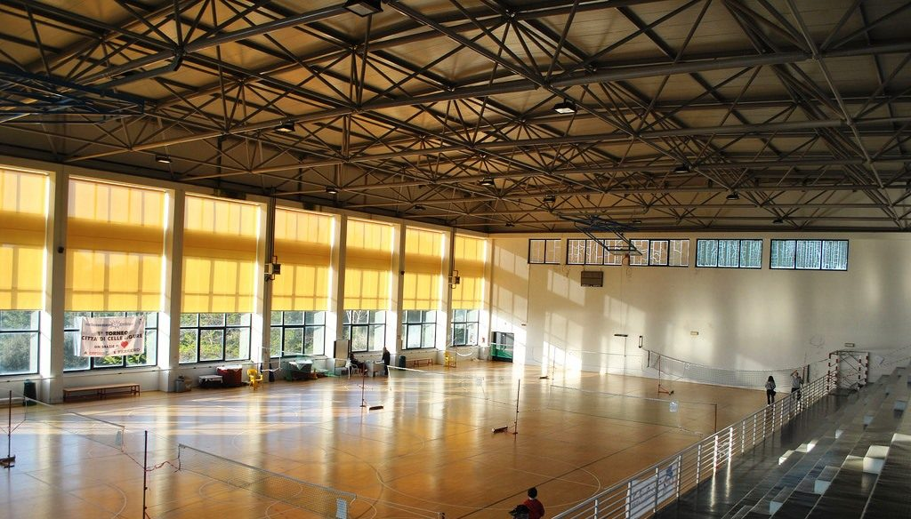Space frames for the covering of Celle Ligure Sports Center - Space ...